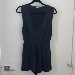 Urban Outfitters Charcoal grey comfy romper